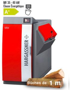 Chaudière bois Buche 50cm ou 1m Hargassner