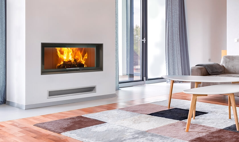 SIGMA 110-50 - Foyer à bois Porte relevable Turbo Fonte - Charente-Maritime Saintes Rochefort La Rochelle